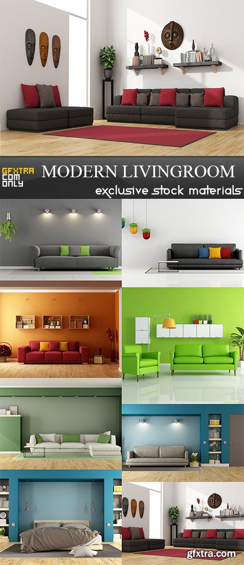 Modern livingroom, 8  x  UHQ JPEG