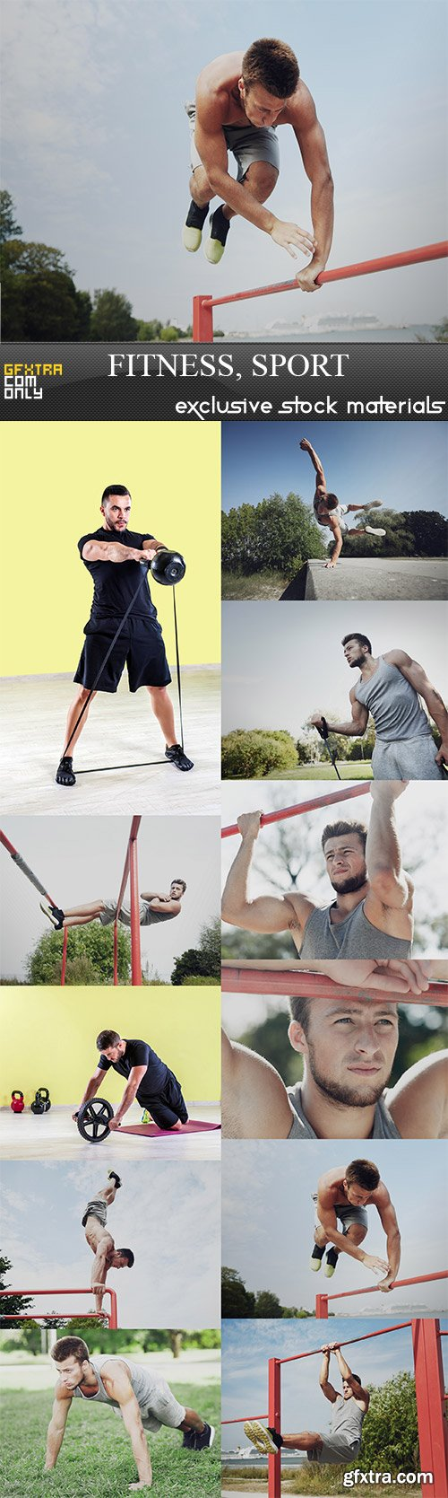 Fitness sport, 11  x  UHQ JPEG