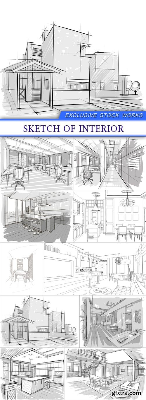 sketch of interior 10 X EPS