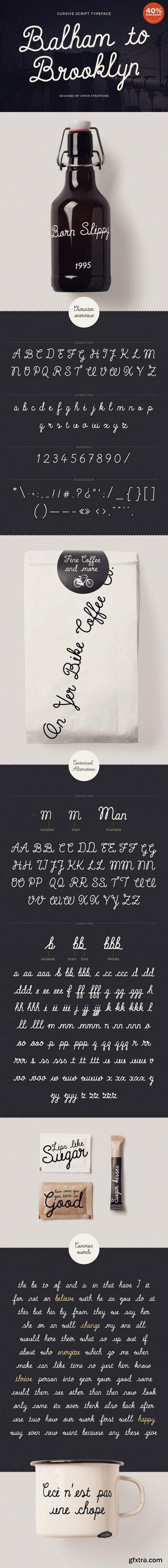 CM - Balham to Brooklyn Script Fonts 362195