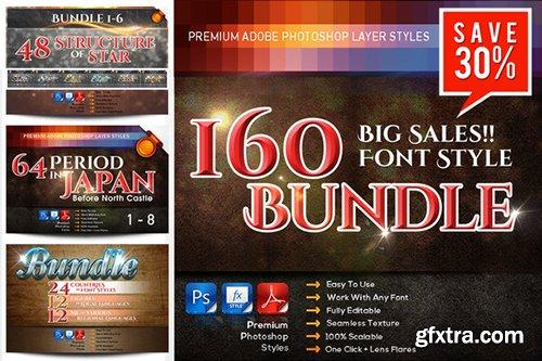 Creativemarket Big SALES!! 160 font styles Bundle 526889