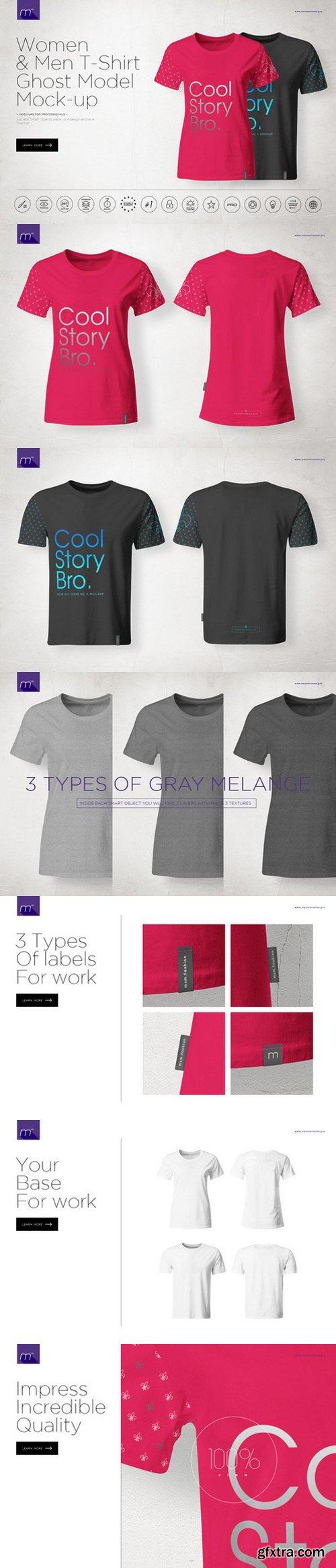 CM - Men & Women Ghost T-shirt Mock-up 541278