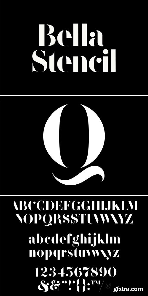 F37 Bella Stencil Font