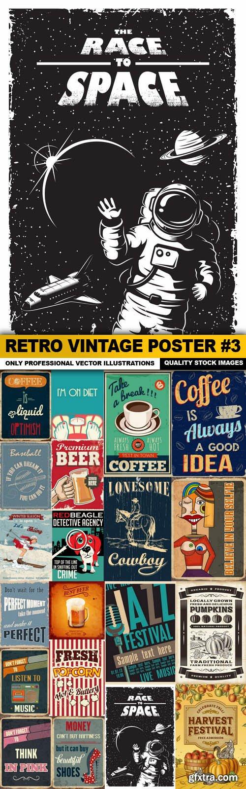 Retro Vintage Poster #3 - 20 Vector