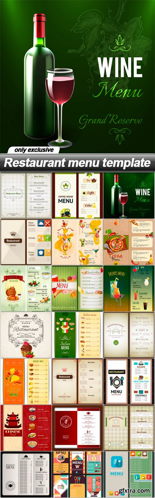Restaurant menu template - 21 EPS