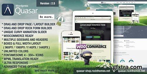 ThemeForest - Quasar v2.5 - Wordpress Theme with Animation Builder - 6126939