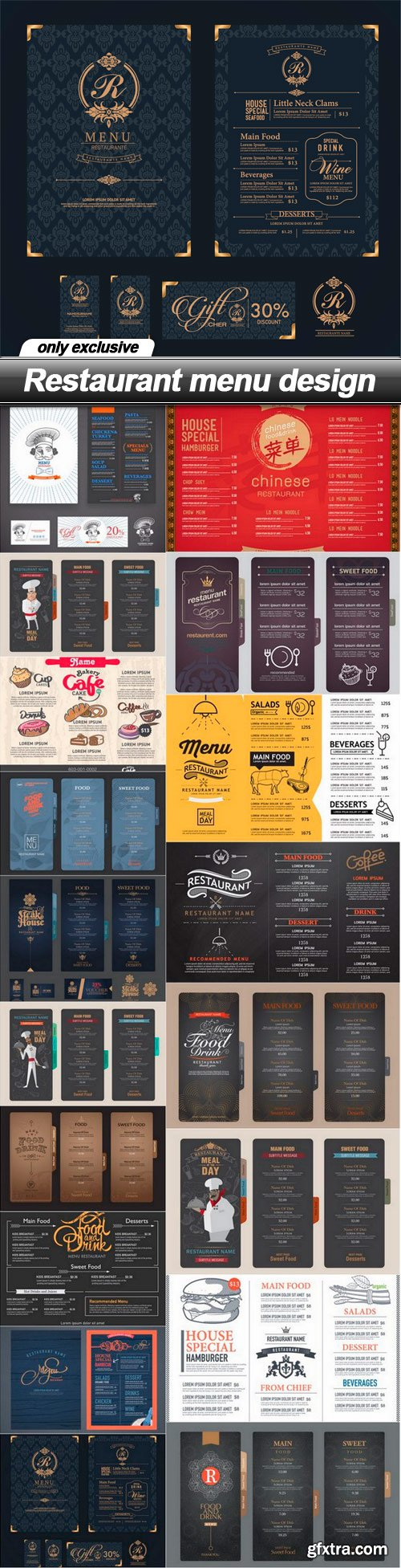 Restaurant menu design - 18 EPS