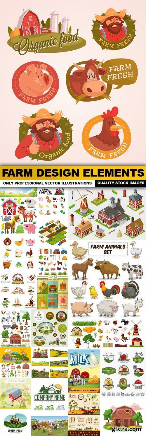 Farm Design Elements - 25 Vector
