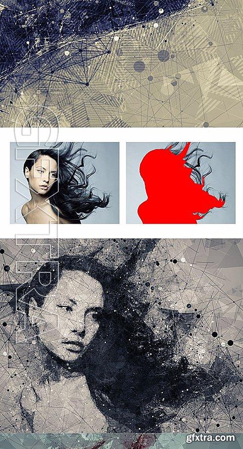 GraphicRiver - Geometric Art Photoshop Action 15013925