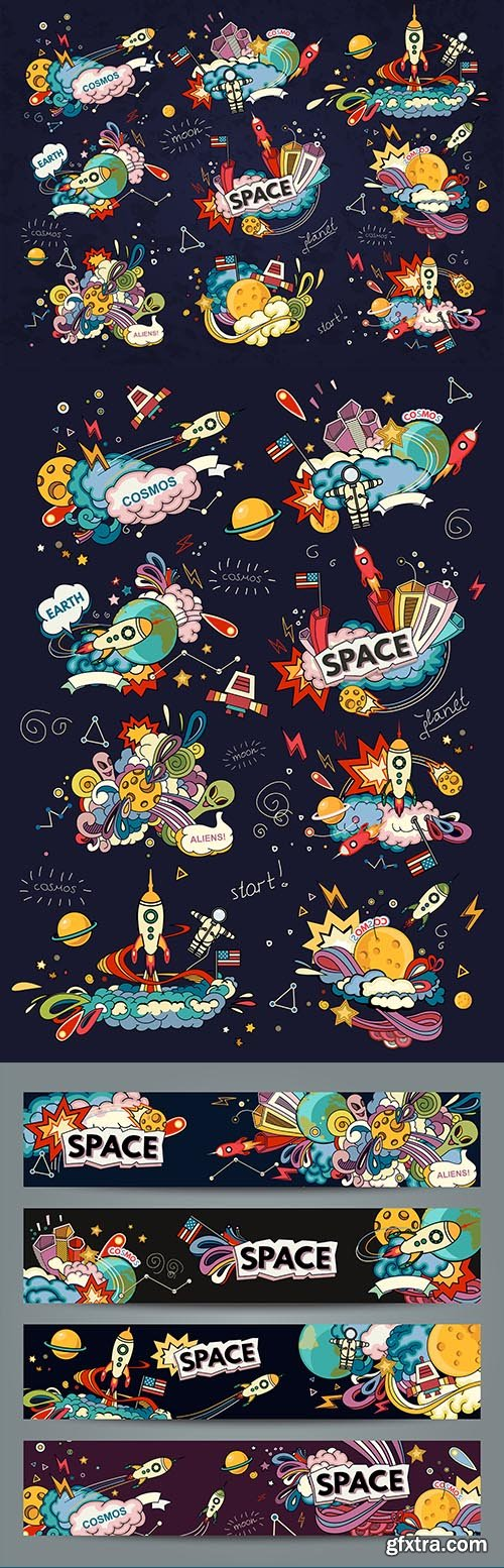 Space Cartoon Style