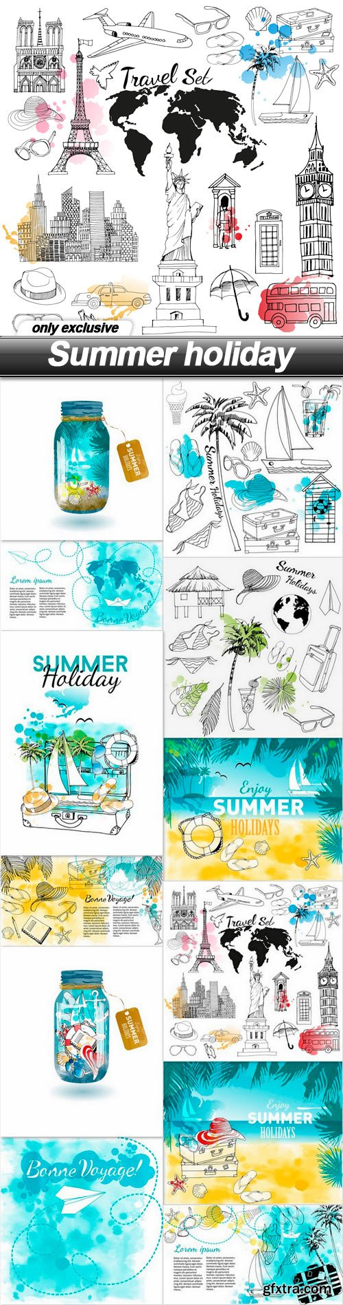 Summer holiday - 12 EPS