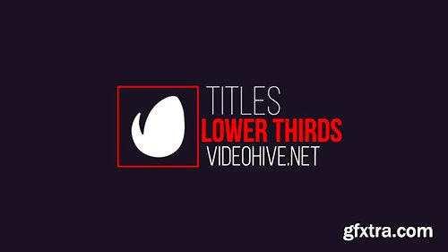 Videohive 20 Lower Thirds and 12 Titles 14855647