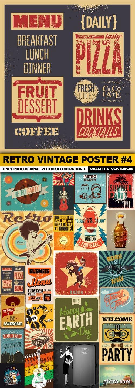 Retro Vintage Poster #4 - 25 Vector