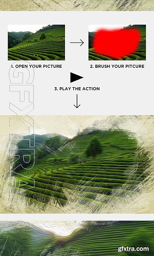 GraphicRiver - Artistic Photoshop Action - Oil Painting Action 15125536