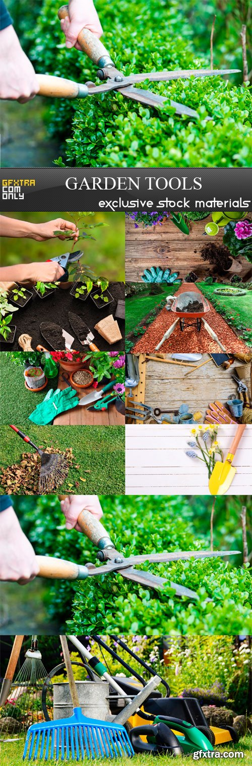 Garden Tools - 10 x JPEGs