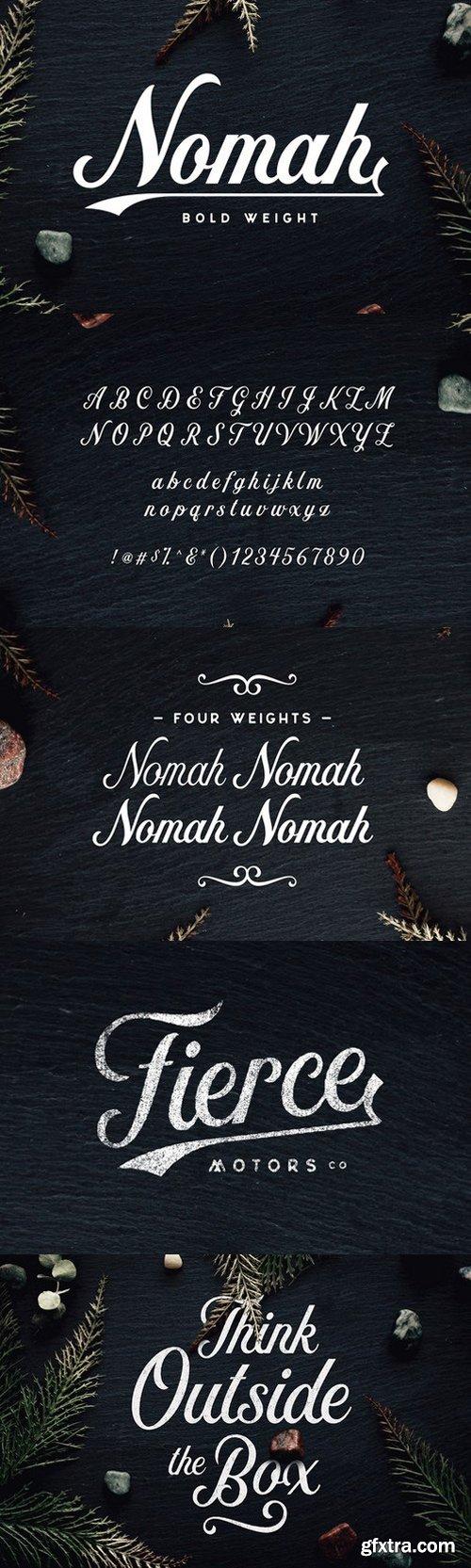 CM - Nomah Bold Script Font 566255