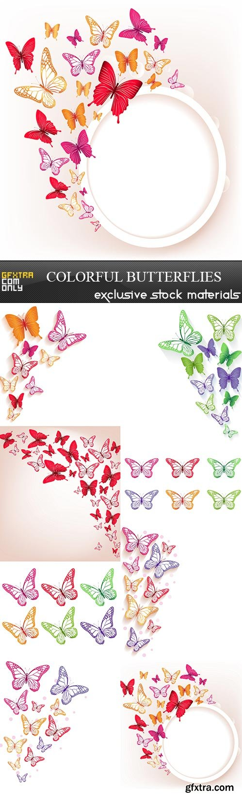 Colorful Butterflies, 8  x  UHQ JPEG