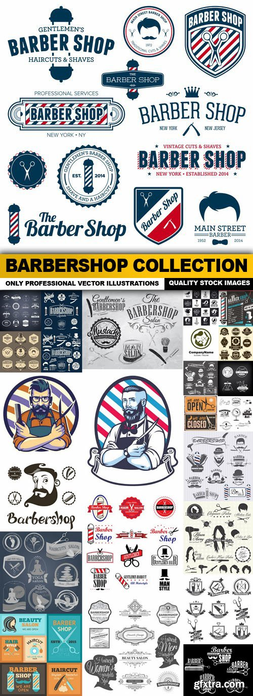 Barbershop Collection - 25 Vector