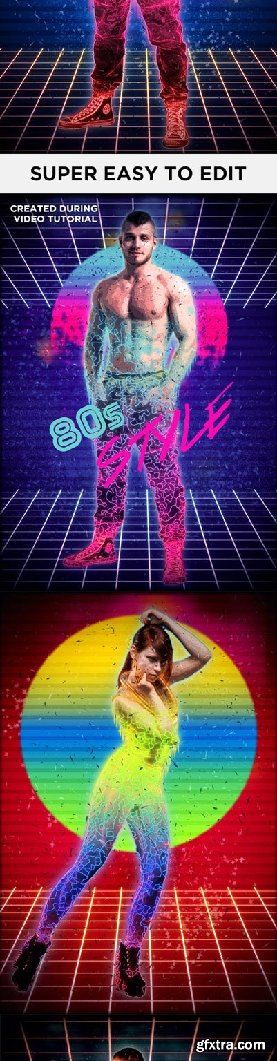 GraphicRiver - 80s Photoshop Action - Eighties Retro Style Action - 14770412