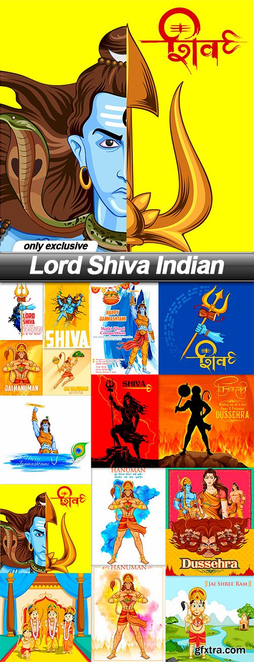 Lord Shiva Indian - 15 EPS