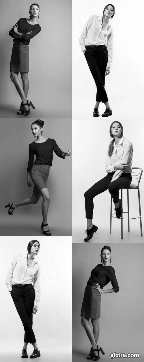 Portrait of a Fashionable Model