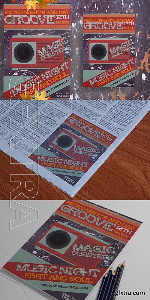 CM - Grunge Retro Music Flyer 567340