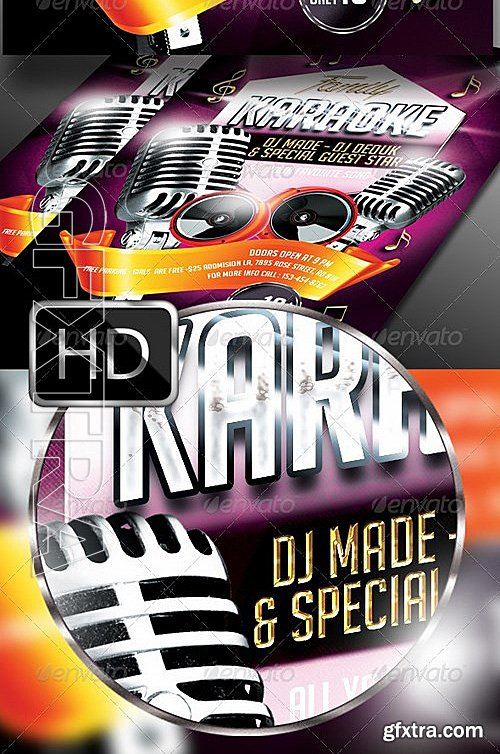 GraphicRiver - Karaoke Flyer Template 7763861