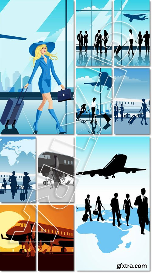 Business traveling - Vector