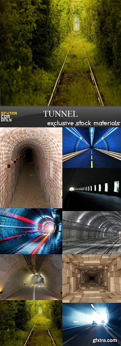 Tunnel, 9  x  UHQ JPEG