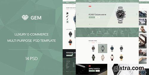 ThemeForest - Gem v1.0 - Luxury E-Commerce PSD theme - 12087736