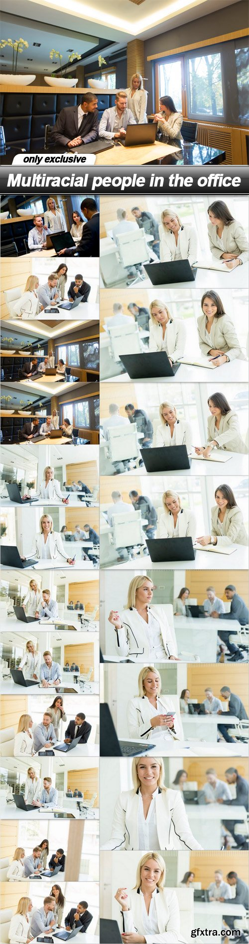 Multiracial people in the office - 20 UHQ JPEG