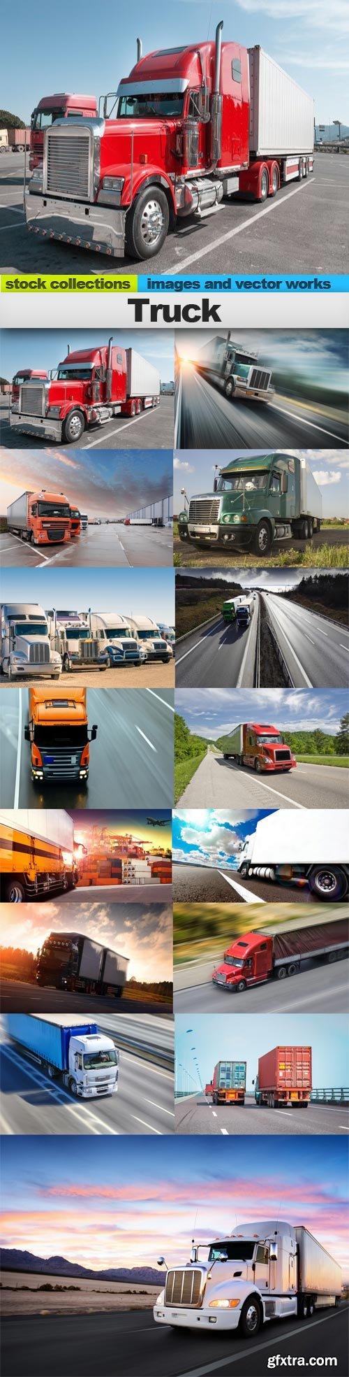 Truck, 15 x UHQ JPEG