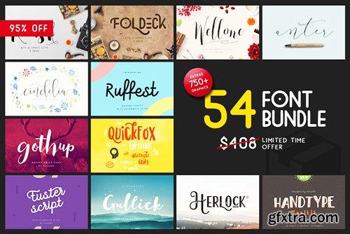 CreativeMarket Font Graphic Bundle - 95% off 585385