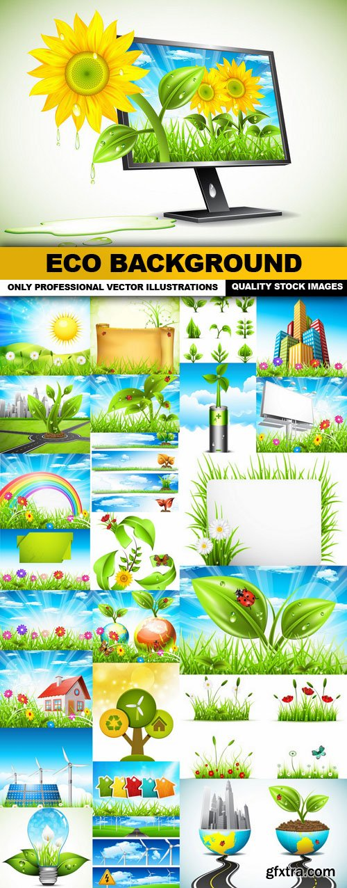 ECO Background - 25 Vector