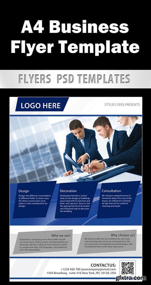 Business Flyer template PSD Template + Facebook Cover