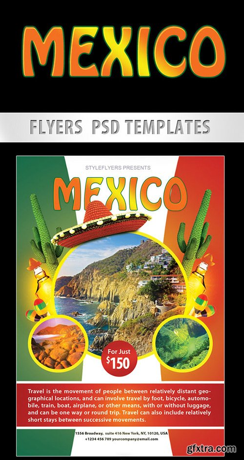 Mexico City Flyer PSD Template + Facebook Cover