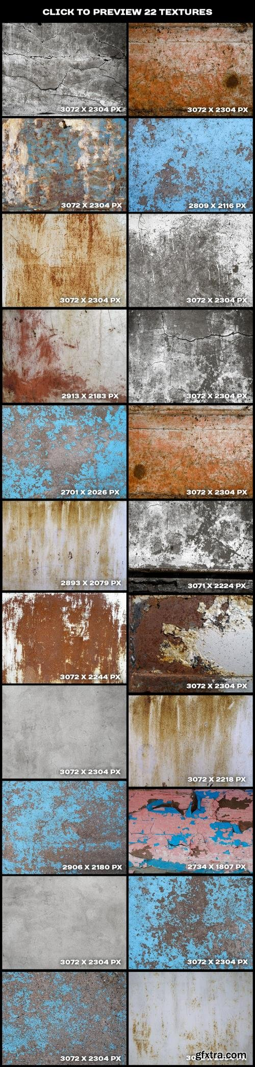 CreativeMarket Cracked paint and concrete textures 589744