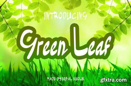 CreativeMarket Green Leaf 589406