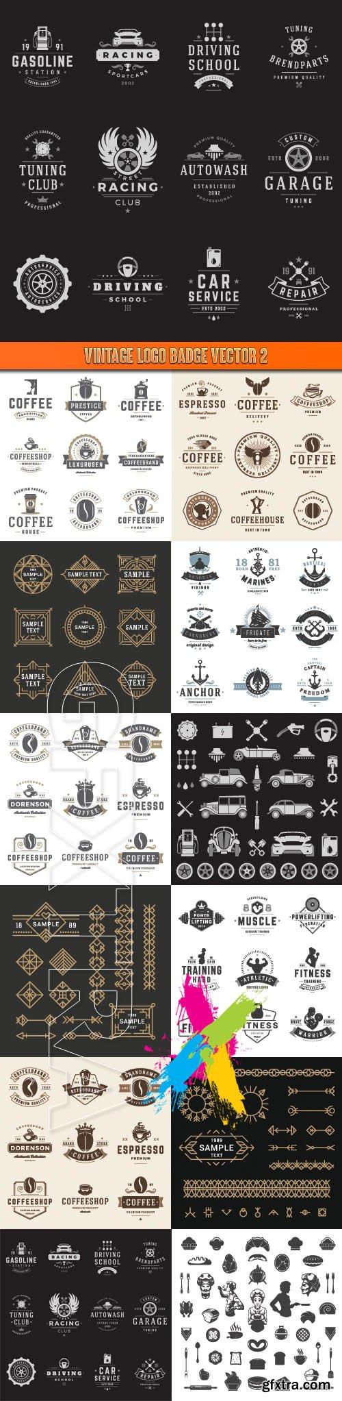 Vintage logo badge vector 2