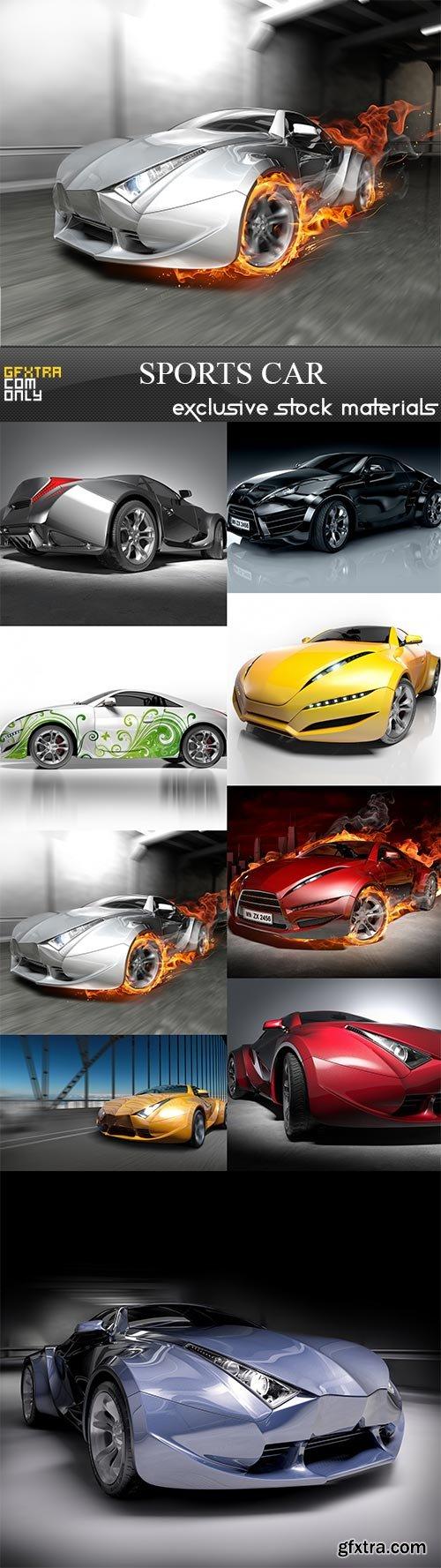 Sports car, 9  x  UHQ JPEG