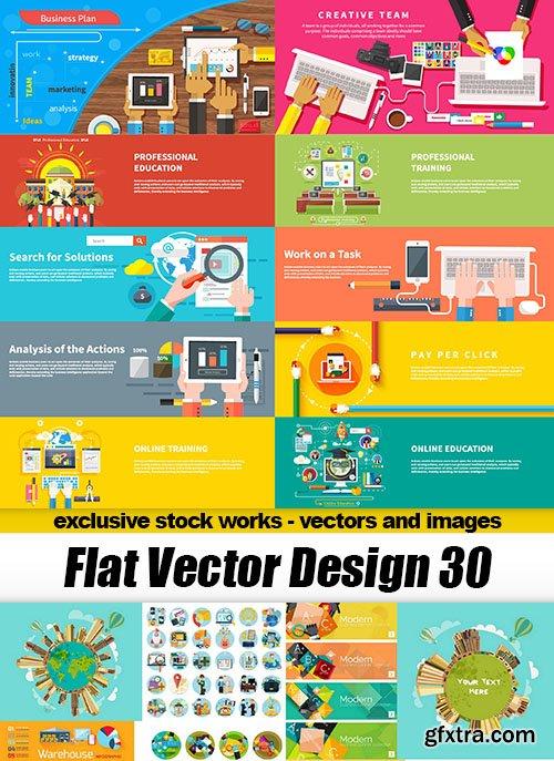 Flat Vector Design 30 - 30xEPS