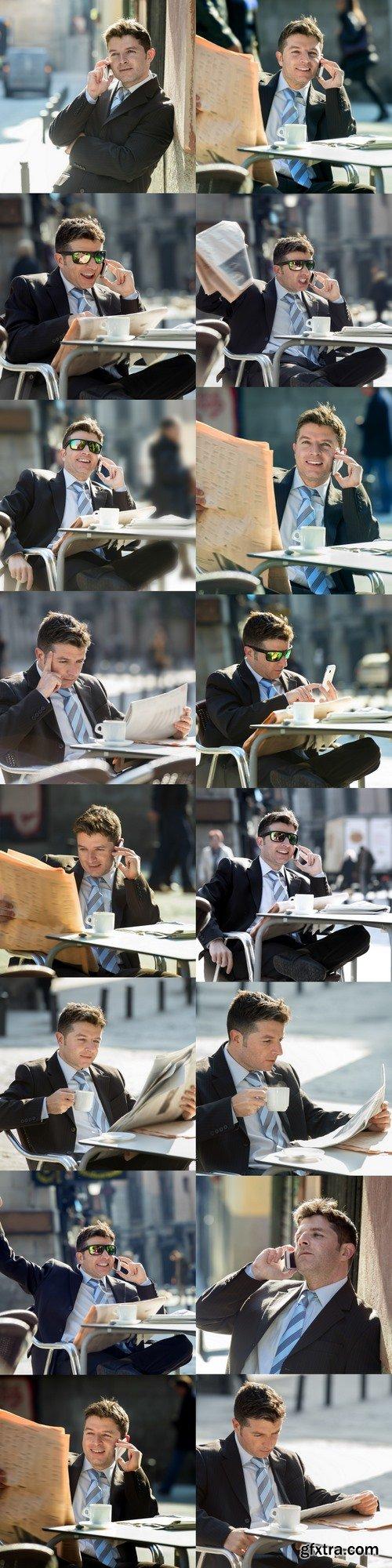 Businessman in caffe
