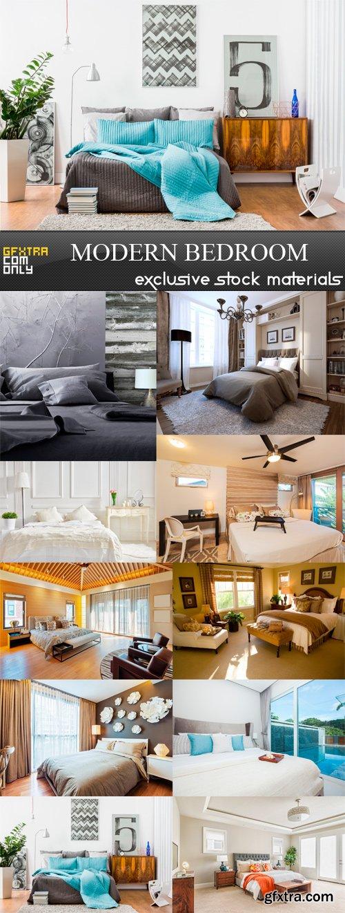 Modern Bedroom - 10 x JPEGs