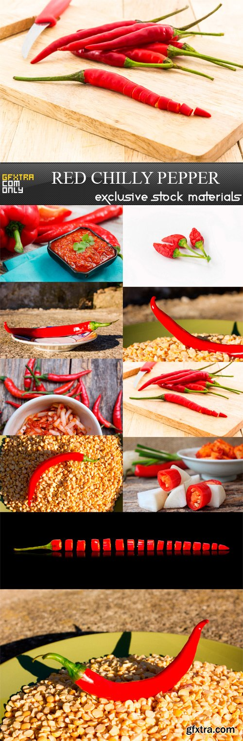Red Chilly Pepper - 10 x JPEGs