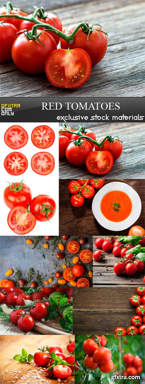 Red Tomatoes - 10 x JPEGs