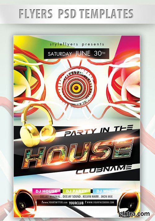 Party in the House PSD Template + Facebook Cover