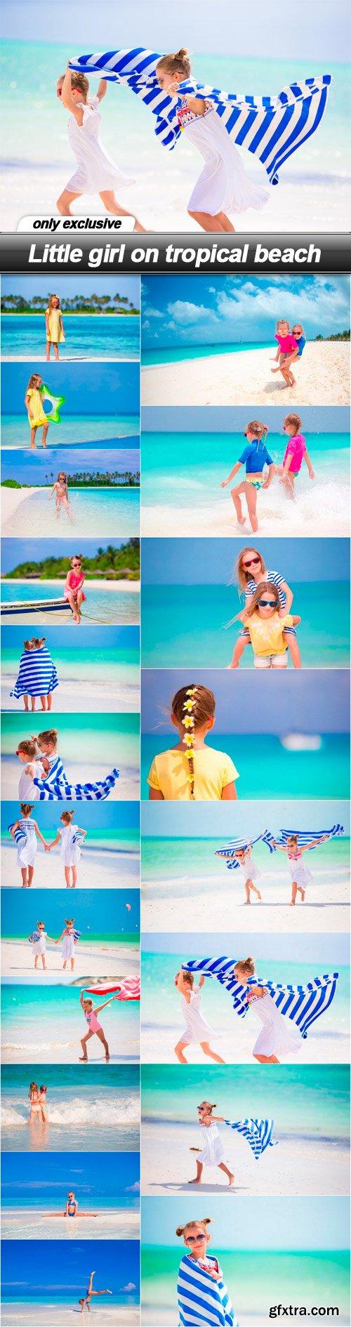 Little girl on tropical beach - 20 UHQ JPEG