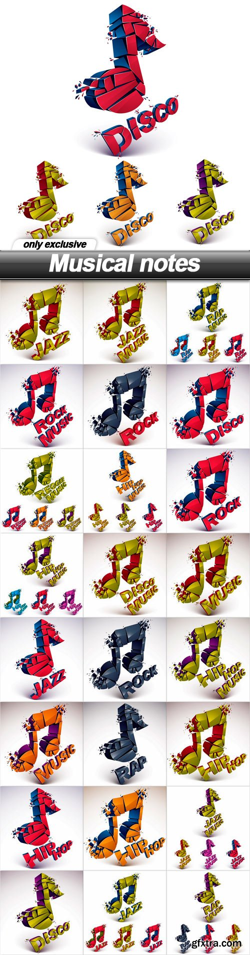 Musical notes - 25 EPS