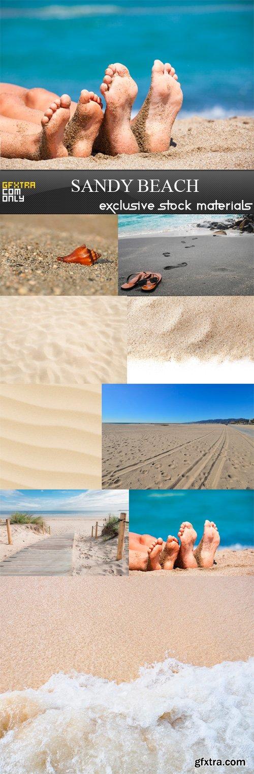 Sandy Beach - 9 x JPEGs