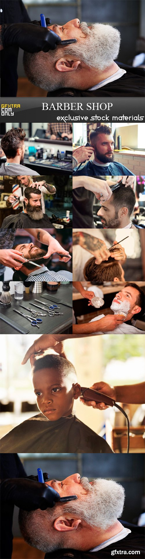 Barber Shop - 10 x JPEGs